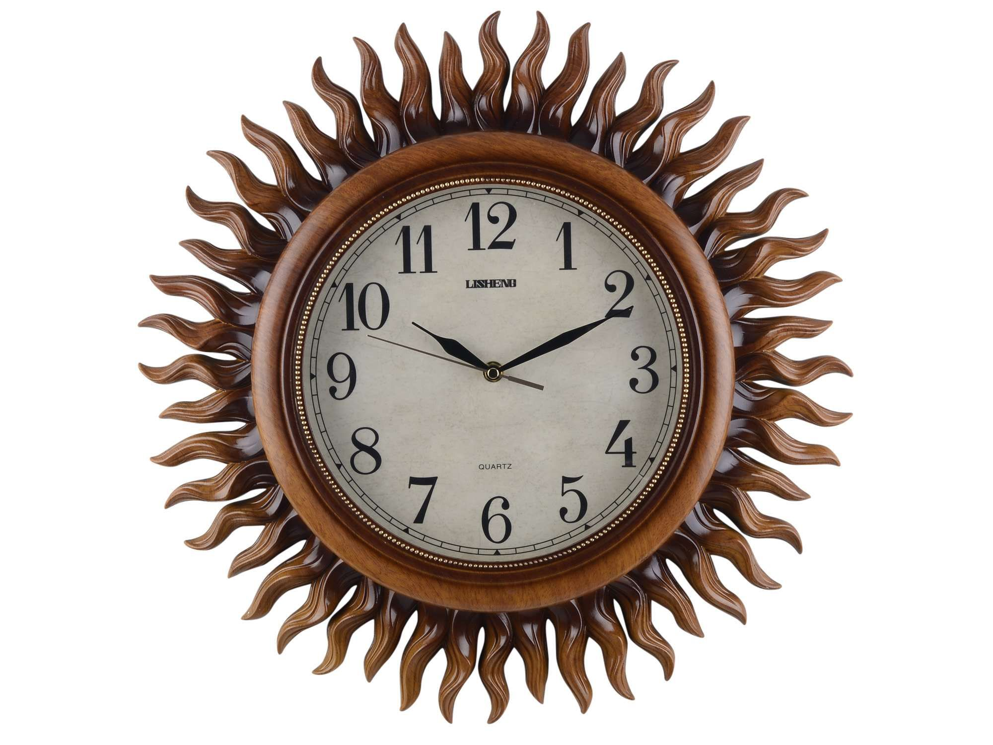 Wall Clock Sun Rays For Just Rs 2099 This Wall Clock Here Is Just Right To Give Your Home A Touch Of Splendor A Commemoration Wall Clock Brown Clocks Clock