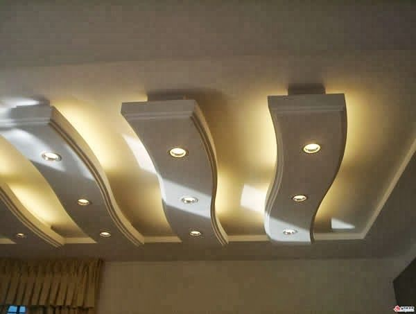 Exclusive False Ceiling Designs For Living Room Hidden Lighting Luxurious Chandelier