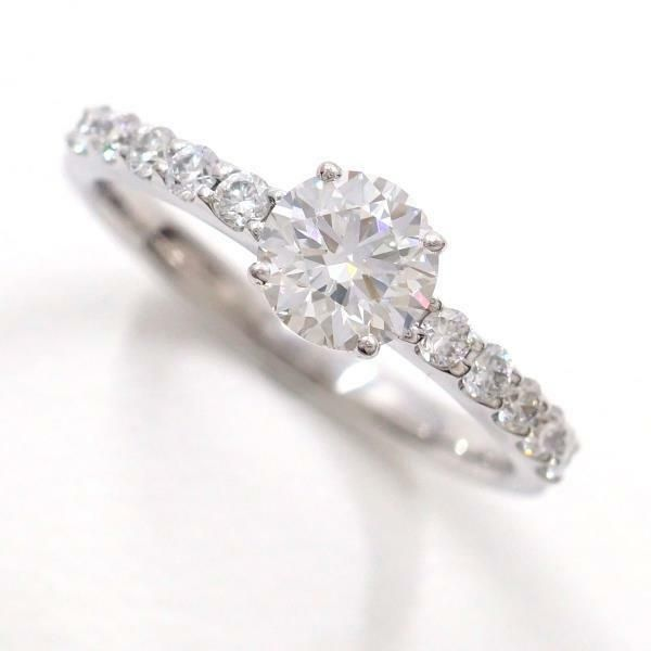 d28a9b6b5e35f eBay  Sponsored Jewelry Platinum 900 Ring 10Japan size Diamond 0.602 Free  shipping Used