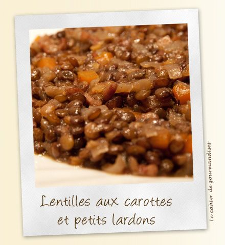 lentilles carottes lardons