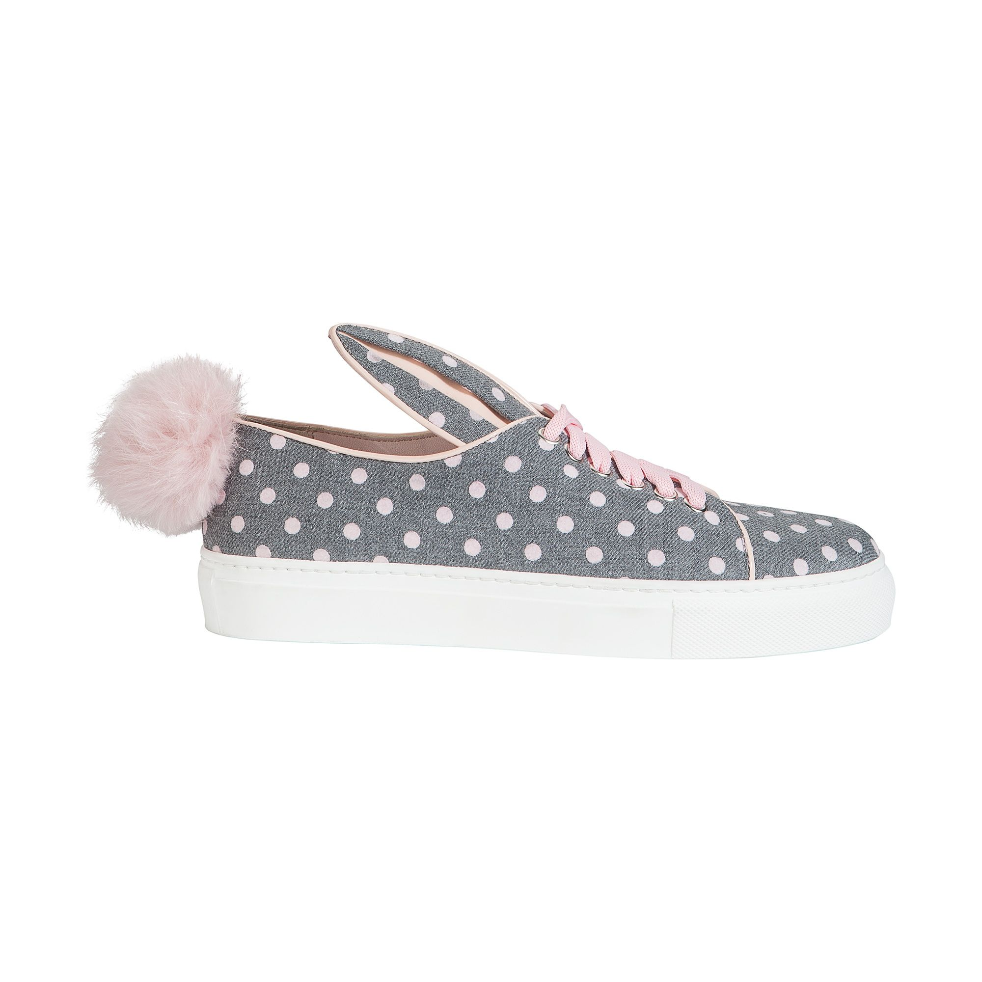 TAIL SNEAKS GREY-PINK TEXTILE