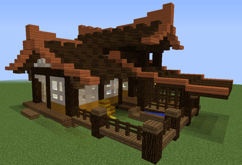 Old Japan Farm House Grabcraft Your Number One Source For Minecraft Buildings Bluep Minecraft Japanese House Minecraft Construction Minecraft Architecture