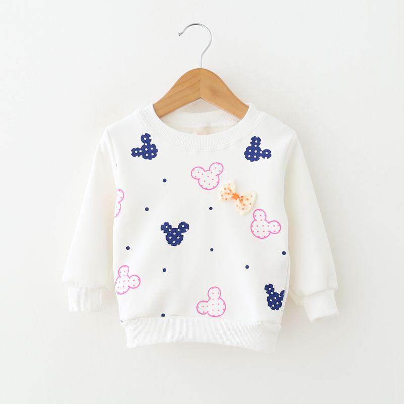 Girls Kids Camiseta Clothes Long Sleeve T shirt Tops Cotton Winter Warm Shirt