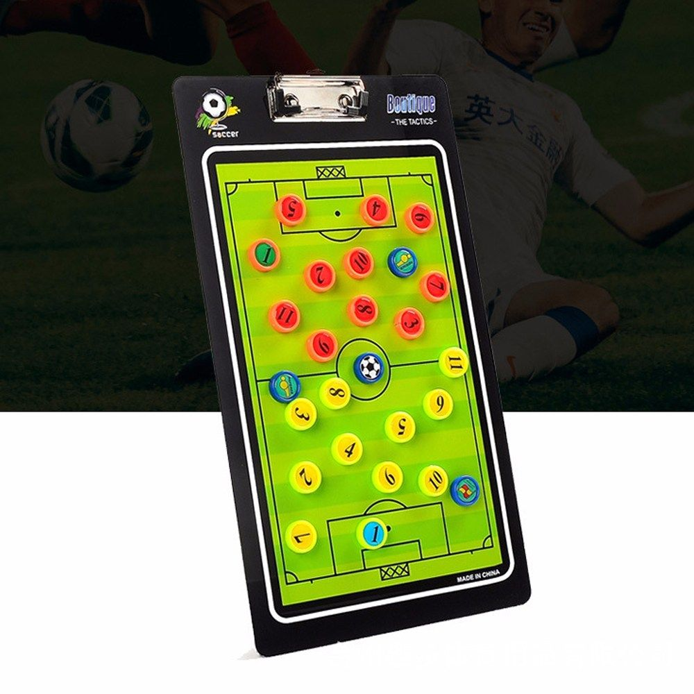 Football Soccer Coaching Board Tactics Plate Magnetic Teaching Board Tactical Command Straight Football Tactic Football Tactics Soccer Coaching Football Soccer