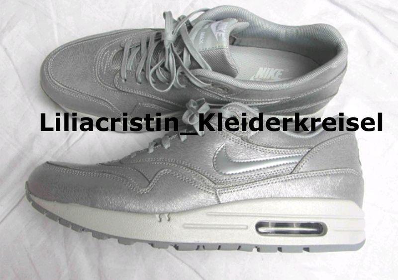 7ea52e2b1171e8 Nike Air Max 1 PRM cut out silber silver blogger selten out of stock  limitiert 41 42