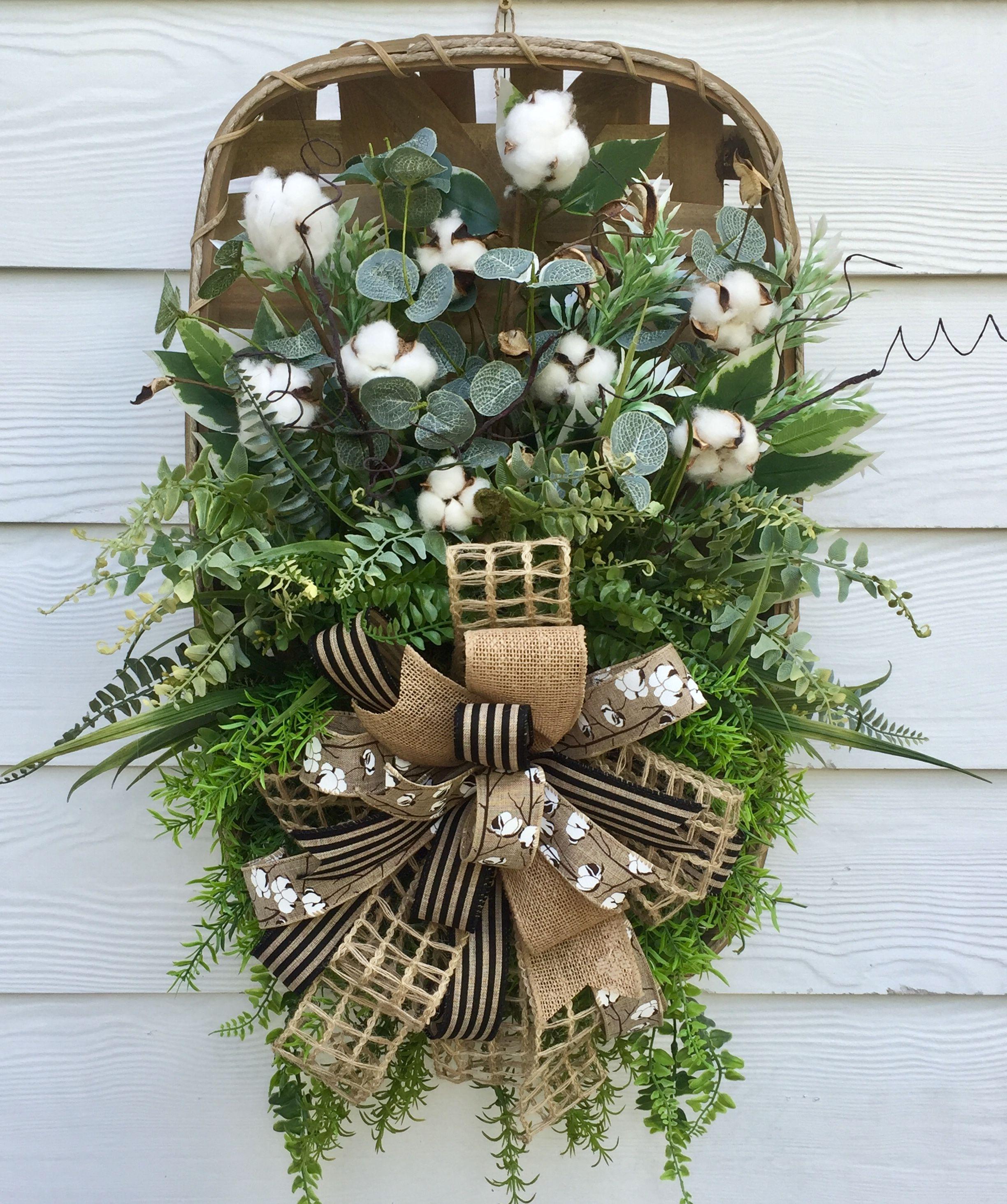 Tobacco Basket Cotton Basket Magnolia Decor Rustic Decor