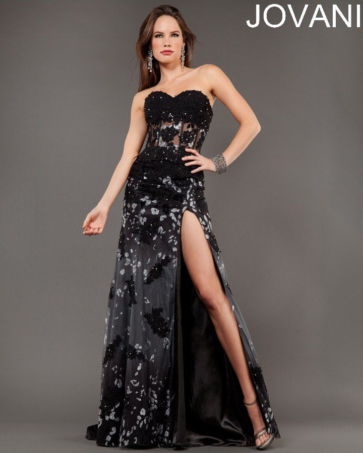 Strapless long Jovani gown