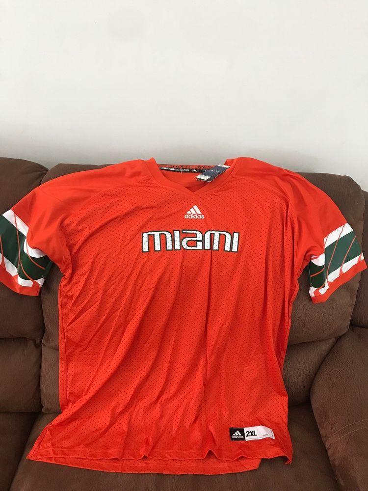 Adidas miami hurricanes um ncaa football blank orange