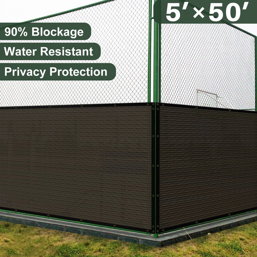 5X50 FT brown Privacy Fence Shade Windscreen Home Garden