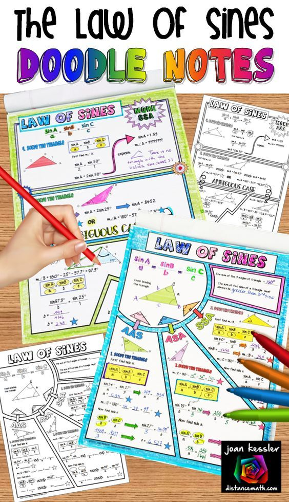 Law of Sines Doodle Notes | Scholarships | Law of sines, College
