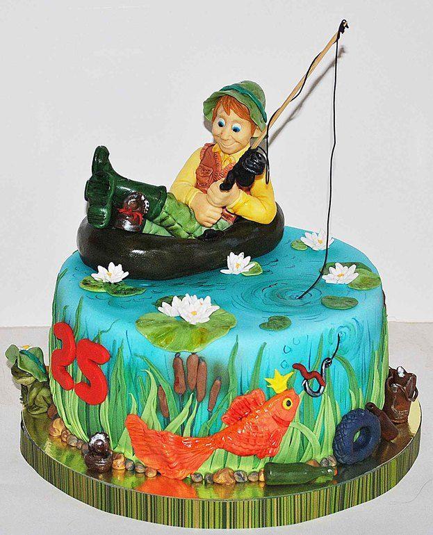Birthday cakes 4 kids Pinterest Cake Fishing cakes