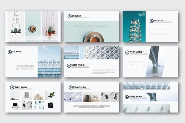 SANGGAR MINIMAL POWERPOINT by thebomber on @creativemarket - powerpoint brochure template