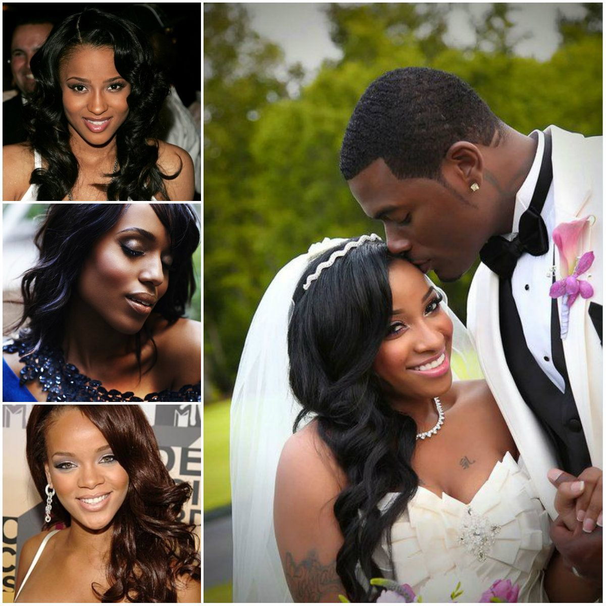Superb 1000 Images About Black Women Wedding Hairstyles Amp Wedding Ideas Hairstyles For Women Draintrainus