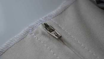 Abnehmbarer Bezug 5:  Rechteckiger Bezug für Schaumstoffpolster Teil 2:  Reißverschluss einnähen