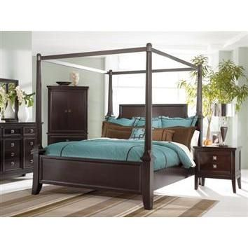 Martini Suite Cal King Canopy Bed By Ashley Furniture