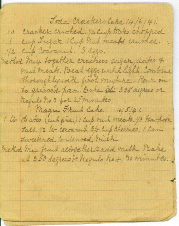 Creole Links Soda Cracker Cake | Vintage Recipes | Pinterest