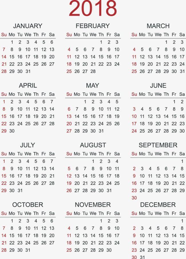 Millions Of Png Images Backgrounds And Vectors For Free Download Pngtree Calendar 2018 Calendar Png Calendar