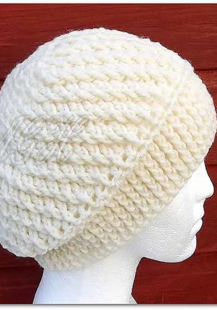 Easy Slouchy Hat Crochet Pattern With Beautiful Spirals | Pinterest ...