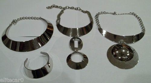 Vintage Trifari Space Age Necklace Runway Collection 3 Necklaces Bracelet   eBay