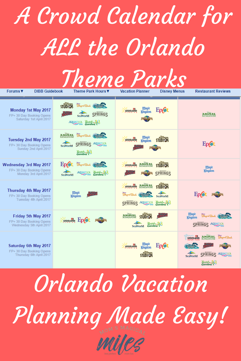 Orlando Crowd Calendar For All The Theme Parks   Mom's Magical