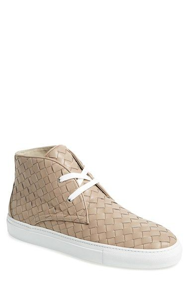 woven leather sneakers