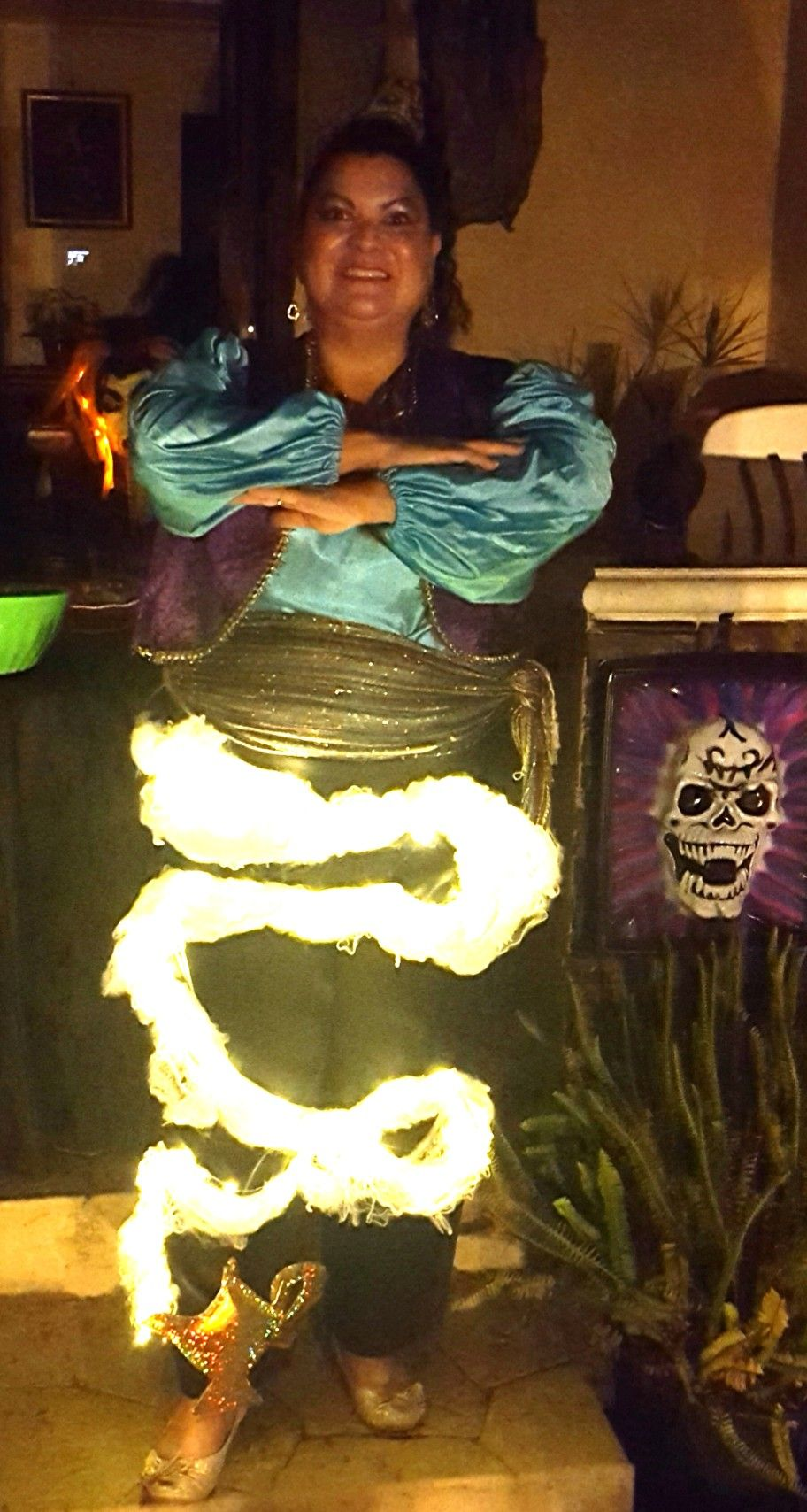 Magic Genie in a l& costume. Things needed for costume colorful shirt vest  sc 1 st  Pinterest & Magic Genie in a lamp costume. Things needed for costume: colorful ...