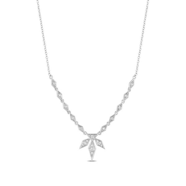 Enchanted Disney Elsa 1 5 Ct T W Diamond Snowflake Necklace In 10k White Gold Zales Gold Lariat Necklace Enchanted Disney Fine Jewelry Snowflake Necklace