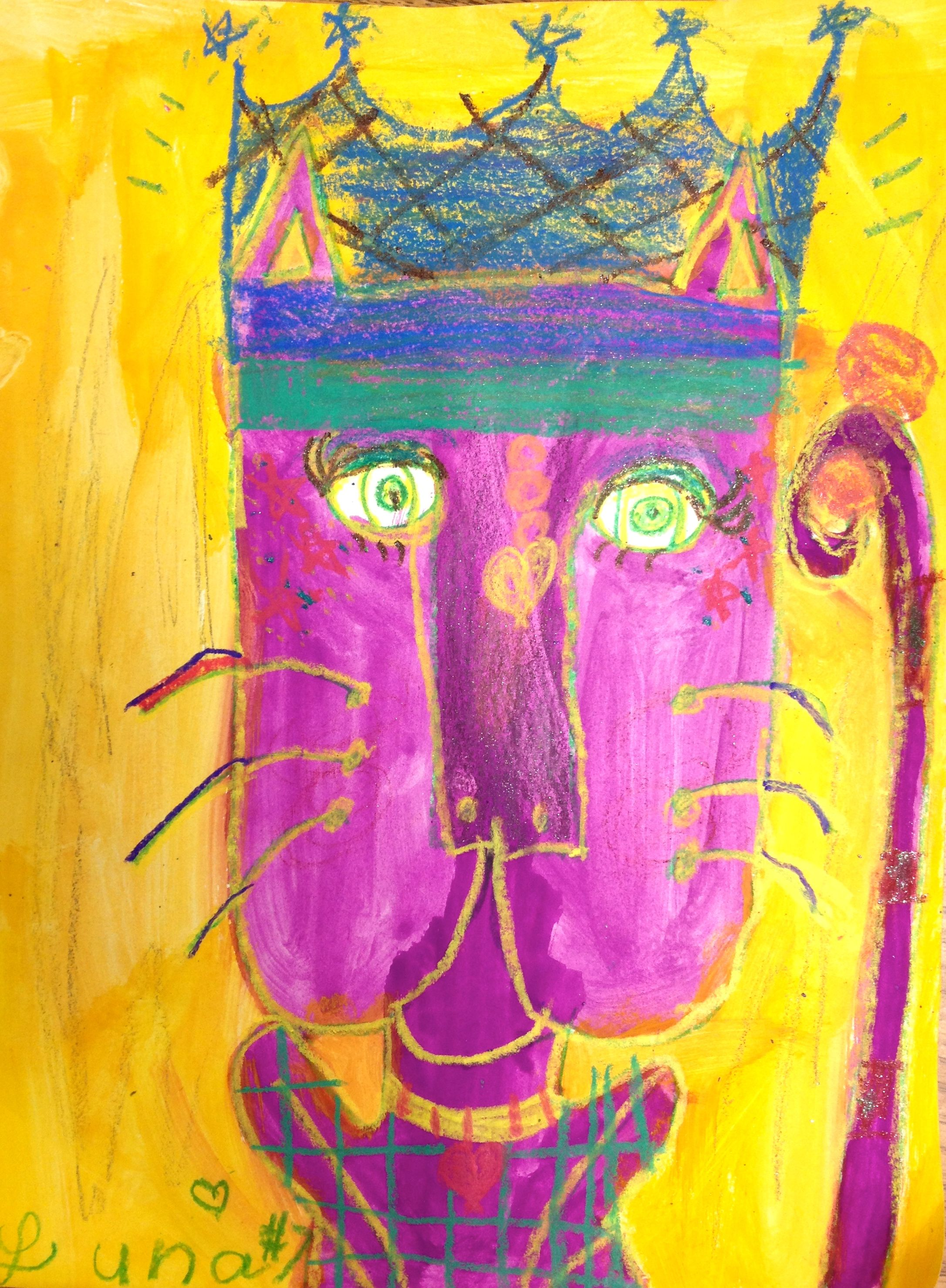this laurel burch inspired cat art project covers complementary