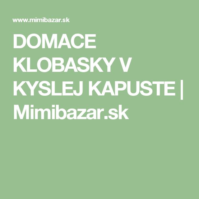 c68892f58623 DOMACE KLOBASKY V KYSLEJ KAPUSTE