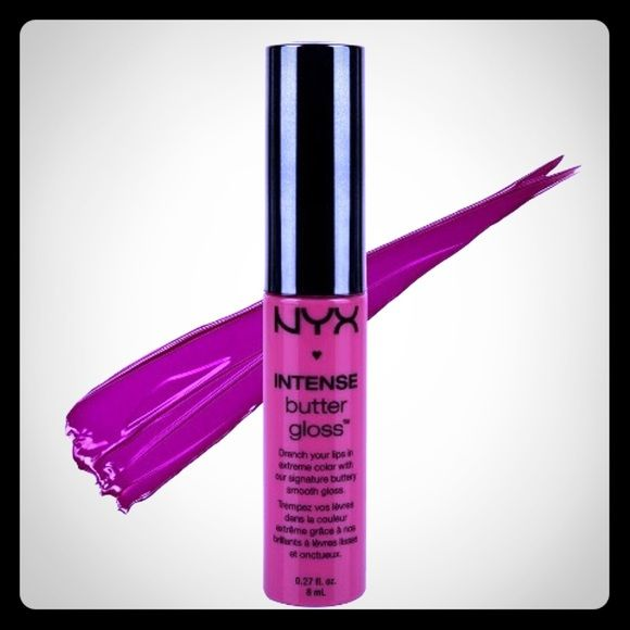 NYX Intense Butter Gloss NEW ONLY SWATCHED !  NYX Intense Butter Gloss Shade: Spice Cake NYX Makeup Lip Balm & Gloss