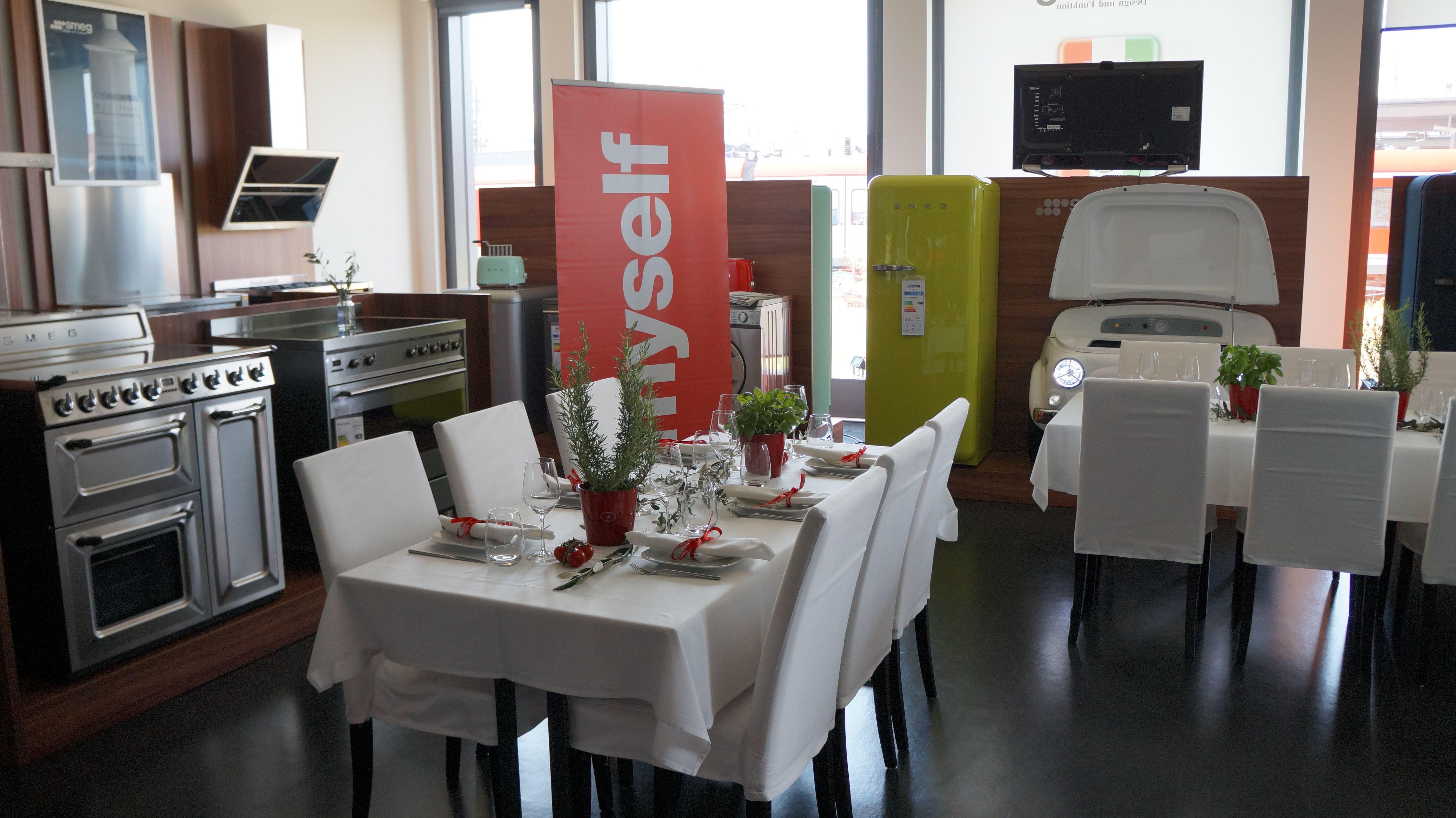 Smeg München alles vorbereitet für die teilnehmerinnen am genuss workshop im smeg