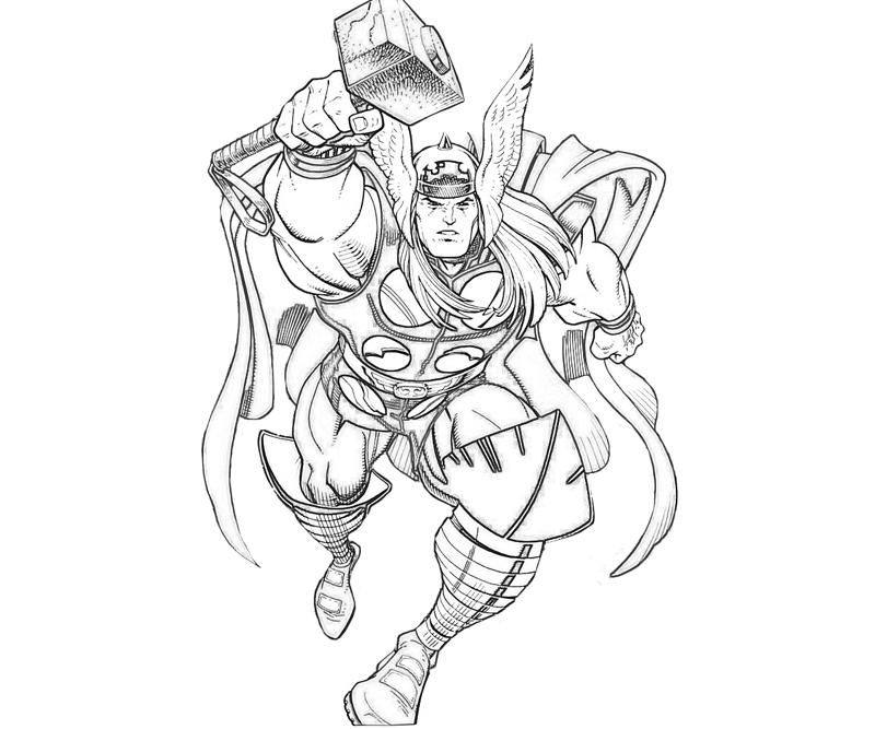 Avengers Coloring Pages Thor : Thor coloring page marvel vs capcom pages