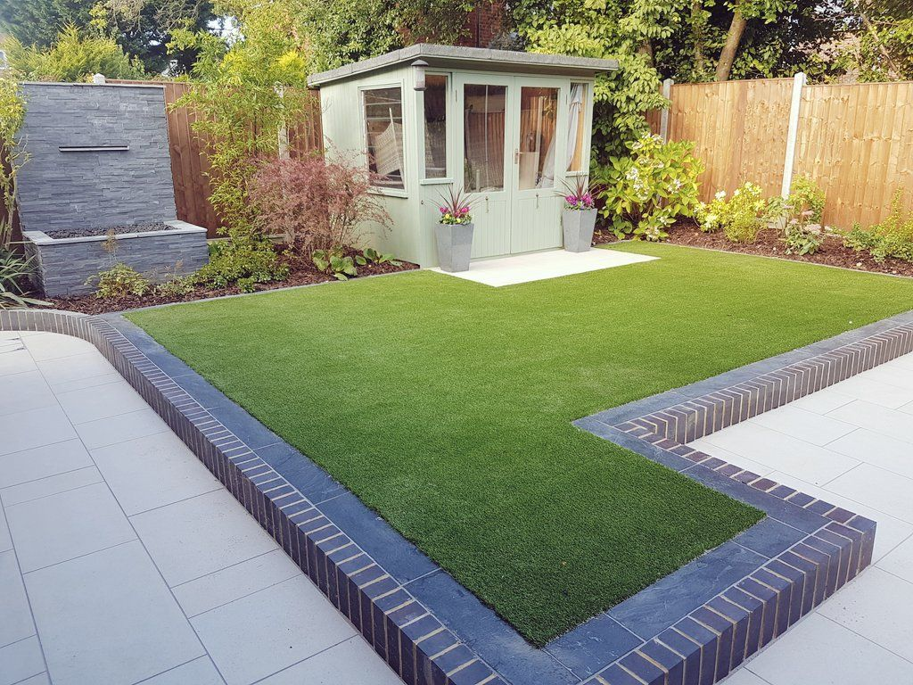 Image Result For Artificial Grass And Summerhouse Garden Design Modern Garden Design Modern Garden