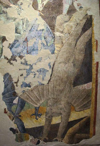 Spinello Aretino e Parri Spinelli - Combattimento tra angeli e diavoli, dettaglio - affresco staccato - XIV sec. - Museo di arte medievale e moderna, Arezzo