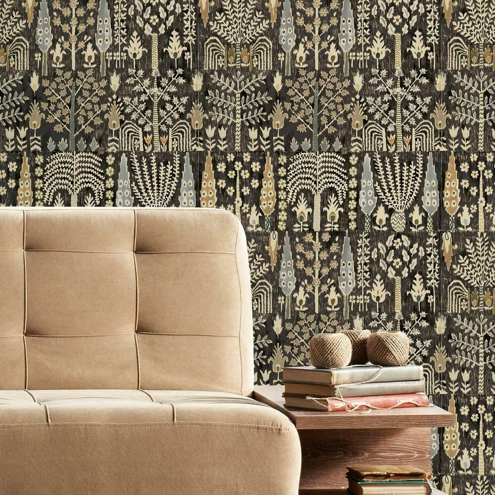 Persian Ikat Peel And Stick Wallpaper Peel And Stick Wallpaper Roommate Decor Room Visualizer