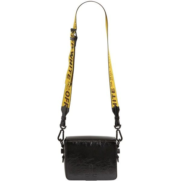 ca3ab1019 ... off white women binder clip patent leather shoulder bag 930 liked on ...
