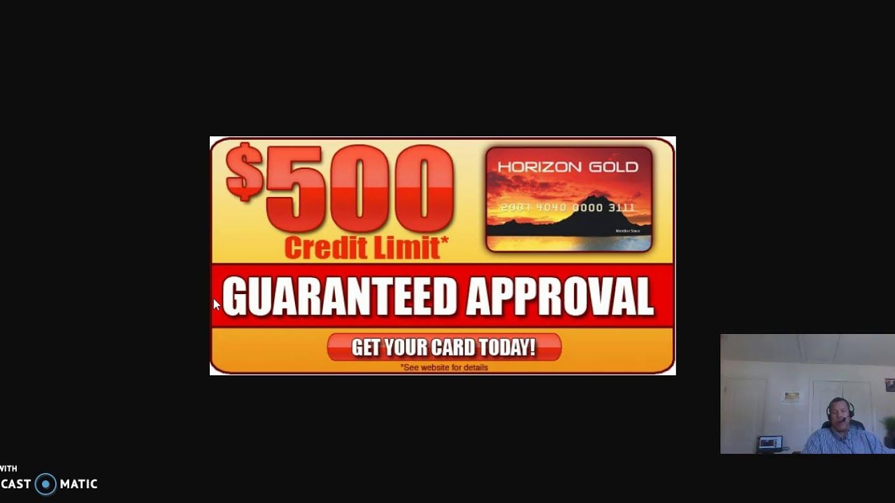 guaranteed credit card approval no credit check primary