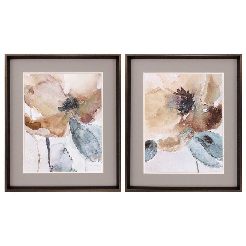 Watercolor Poppy Framed Print Reviews Joss Main Watercolor Poppies Painting Prints Painting Frames
