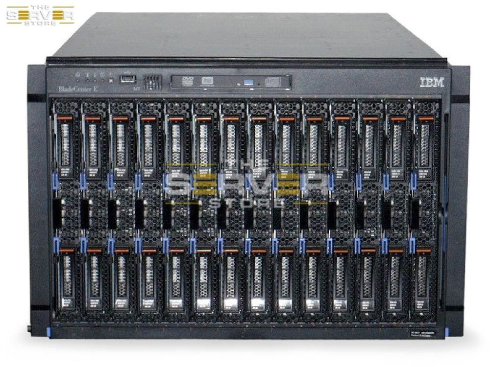 Details about IBM BLADECENTER E CHASSIS 14x HS22V BLADES 2x