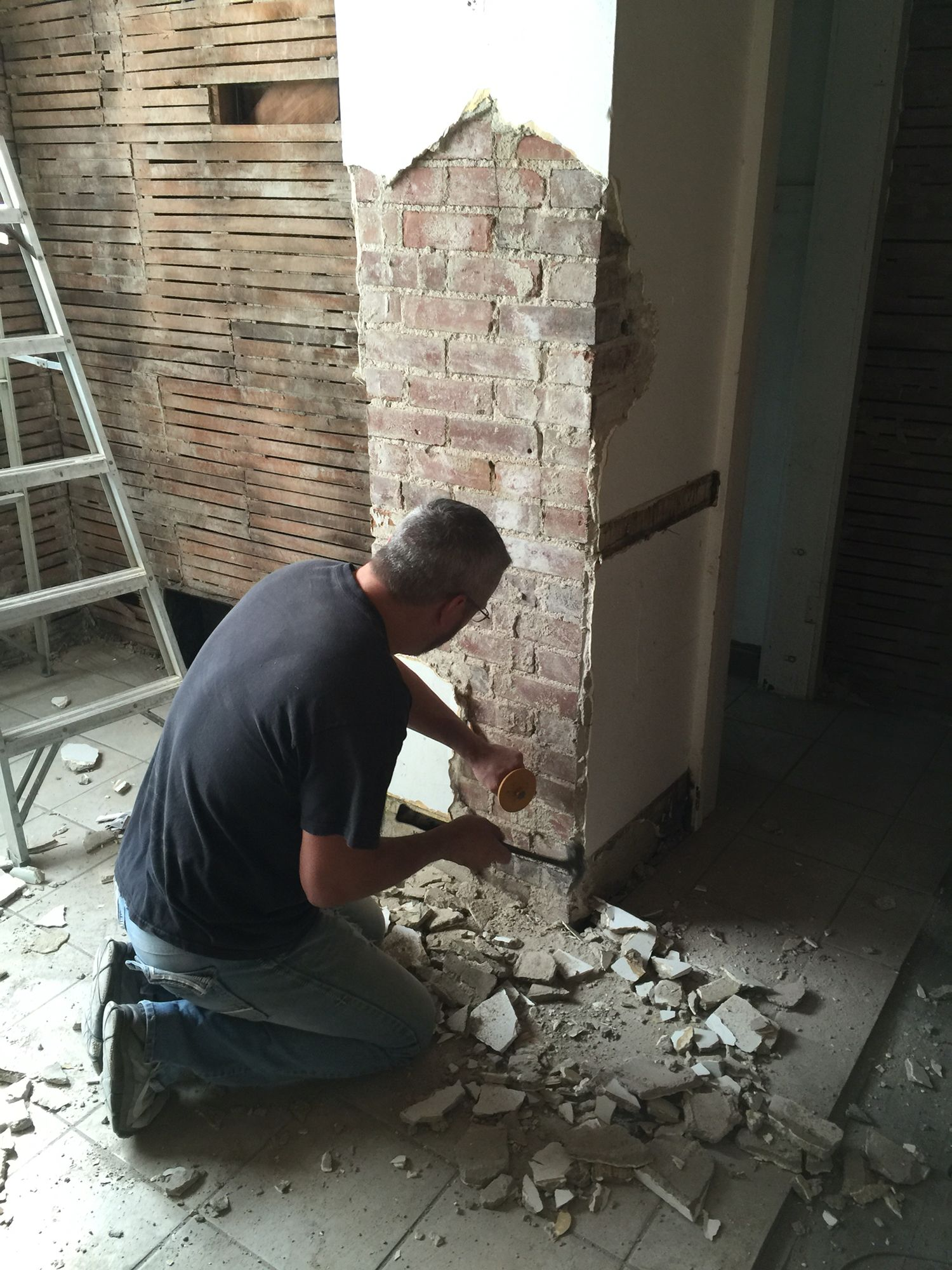 how to remove plaster from a brick chimney bricks exposed brick