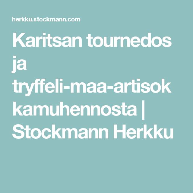 Karitsan tournedos ja tryffeli-maa-artisokkamuhennosta | Stockmann Herkku