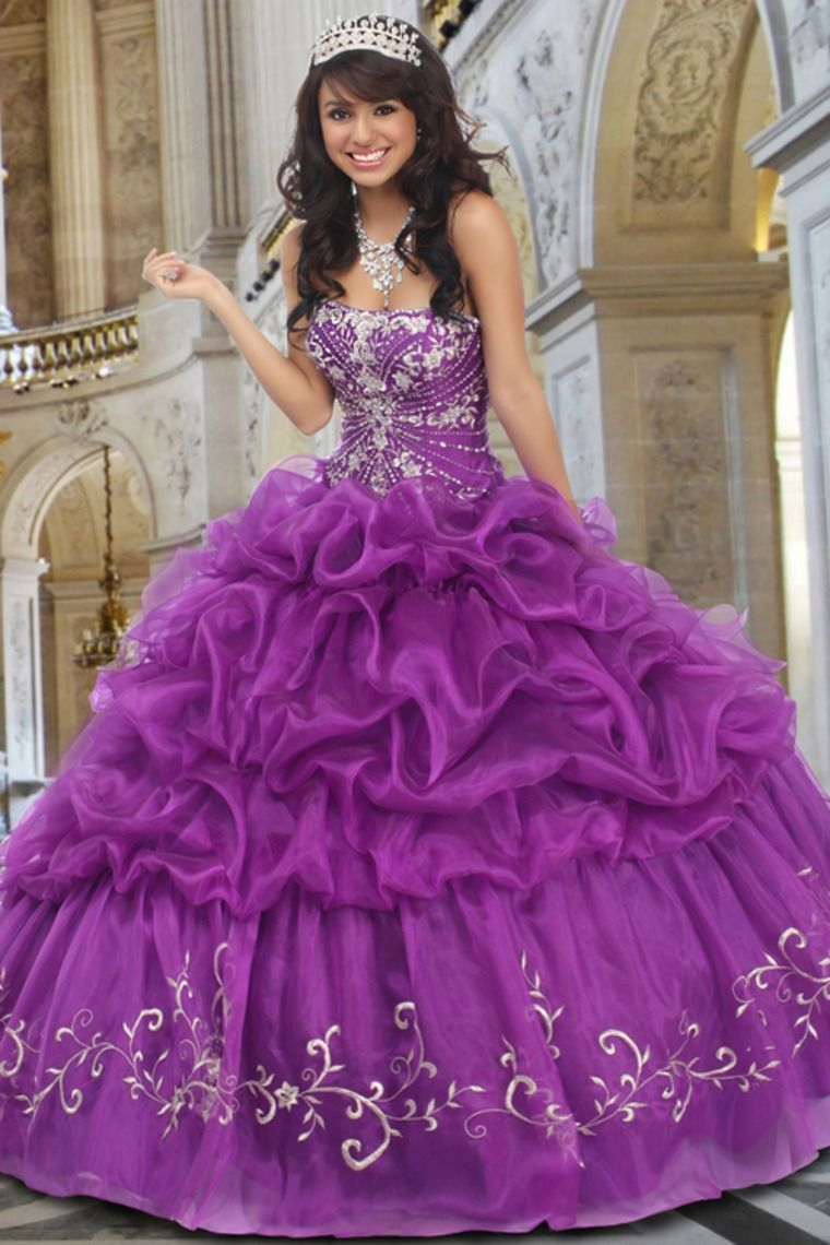 Cute Scalloped Neckline Floor Length Beaded Ball Gown With ...