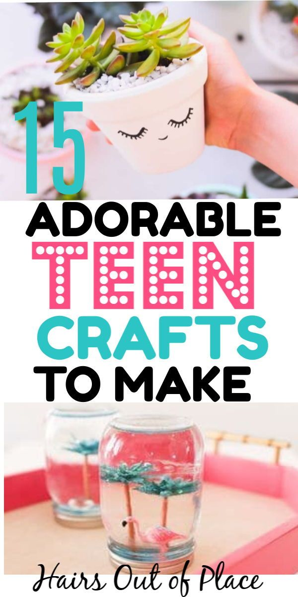 15 DIY crafts for kids that are older or DIY crafts for teenagers. Keep them busy with easy craft ideas for spring summer or for their room.