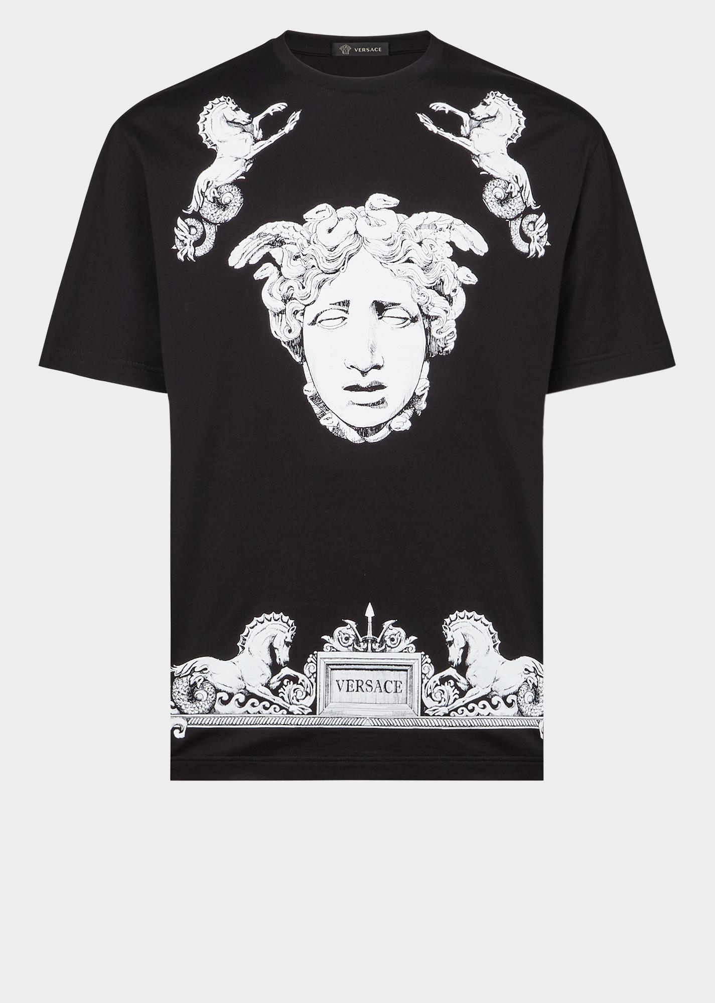 760ec5f05 VERSACE Il Tempio Motif T-Shirt. #versace #cloth Short Sleeves, Jogging