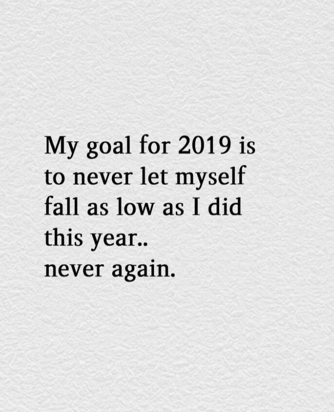 My goal for 2019