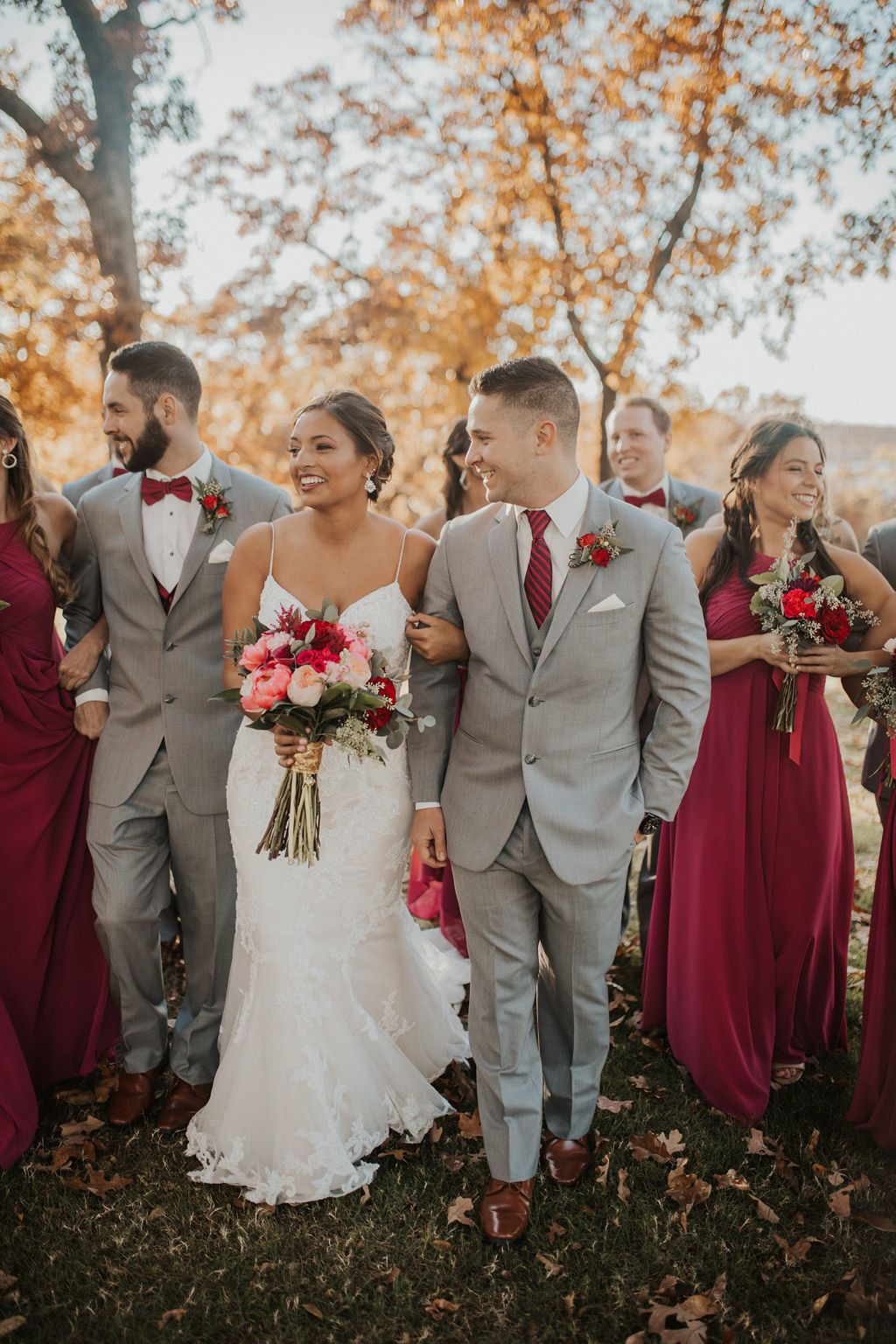 Tulsa Wedding Venue Springs Venue Bridal Parties Colors Burgundy And Grey Wedding Wedding Groomsmen Attire