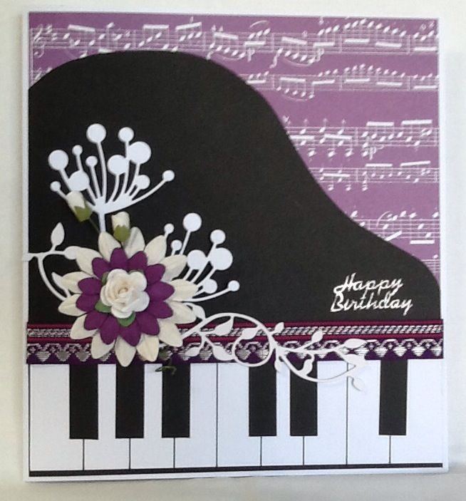 Piano card made by me for a friend