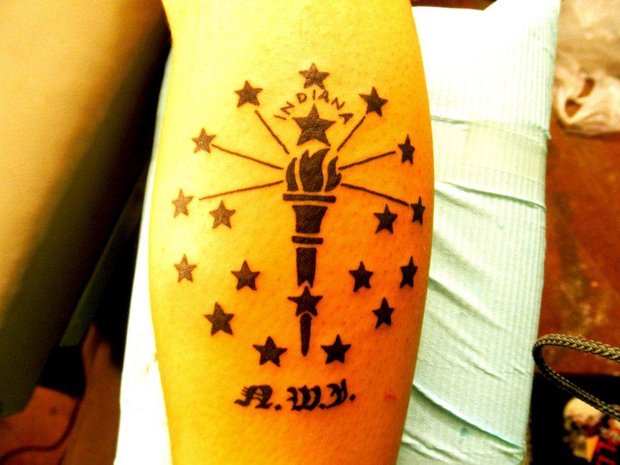 Indiana state flag tattoos inspirational tattoos