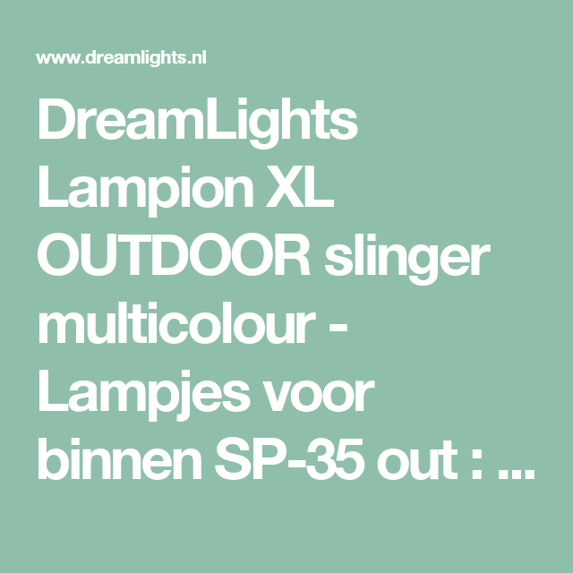 DreamLights Lampion XL OUTDOOR slinger multicolour - Lampjes voor binnen SP-35 out : DreamLights
