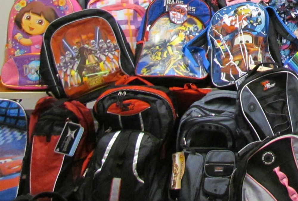 New and Gently Used Backpacks Needed for Donations Baby